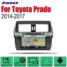 цена на ZaiXi Auto DVD Player GPS Navigation For Toyota Land Cruiser Prado 2014~2017 Car Android Multimedia System Screen Radio Stereo
