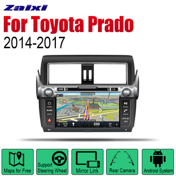 ZaiXi Auto DVD Player GPS Navigation For Toyota Land Cruiser Prado 2014~2017 Car Android Multimedia System Screen Radio Stereo
