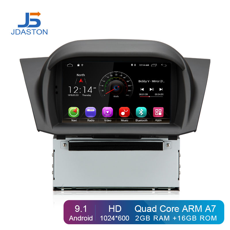 JDASTON Android 9.1 Car DVD Player For Ford Fiesta 2013 2014 2015 2016 WIFI GPS Navigation 1 Din Car Radio Stereo MultimediaJDASTON Android 9.1 Car DVD Player For Ford Fiesta 2013 2014 2015 2016 WIFI GPS Navigation 1 Din Car Radio Stereo Multimedia