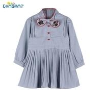 LONSANT Kids Dresses Toddler Baby Girls Bee Bowtie Pleated Princess Dress Long Sleeve Girls Cotton Casual stripe dresses