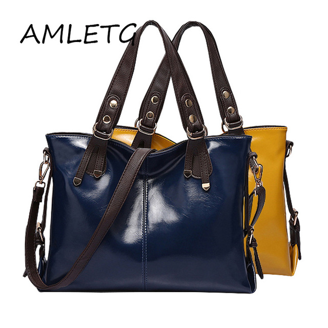 a48088af69f1 High Quality British Style Women Bag Brand Fashion Handbags Women's Bright  Leather Design Shoulder Bag Crossbody Bags Tote Bolsa