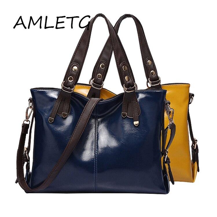 High Quality British Style Women Bag Brand Fashion Handbags Women's Bright Leather Design Shoulder Bag Crossbody Bags Tote Bolsa
