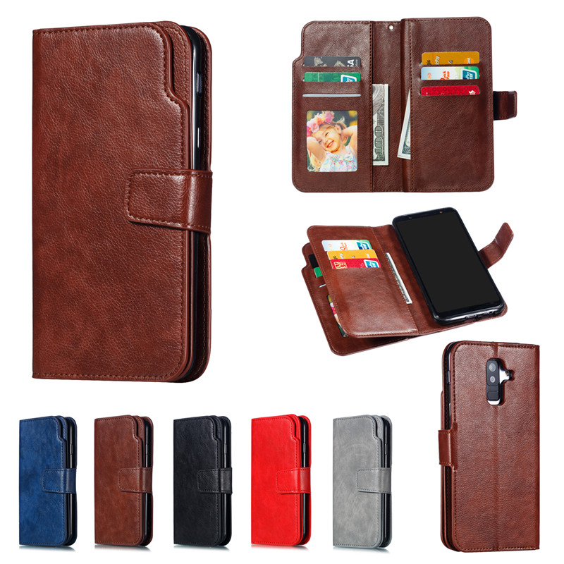Leather <font><b>Case</b></font> For <font><b>Samsung</b></font> Galaxy J3 J5 <font><b>J7</b></font> J4 J6 Plus J8 J2 Pro 2018 <font><b>2017</b></font> 2016 <font><b>Flip</b></font> <font><b>Case</b></font> Card Wallet Cover Magnet Business <font><b>Cases</b></font> image