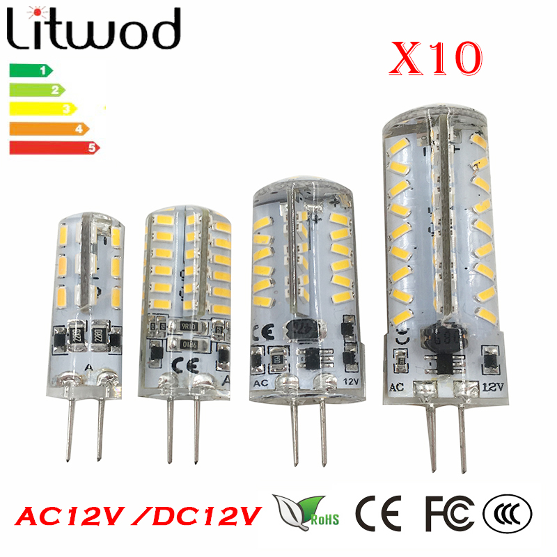 Litwod z30 led G4 Base SMD3014 DC12V AC12V White/Warm White LED Bulb Lamp High Power Light 360 Degrees Beam Angle