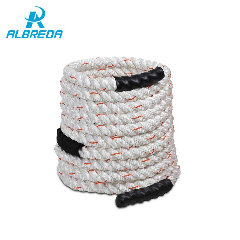 ALBREDA 1.5'' * 40'Poly Dacron Power Training Battle Ropes Gym Workout Training Rope fitness training sports exercise 12m*38mm fitness crossfit skipping ropes speed jump rope jump tpu skipping rope handle gym training sports exercise for free shipping