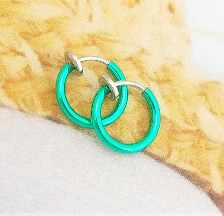 HTB1PbBUJFXXXXceXVXXq6xXFXXXZ 3-in-1 Two Pieces Clip On Hoop Nose Lip Ear Rings - 10 Colors