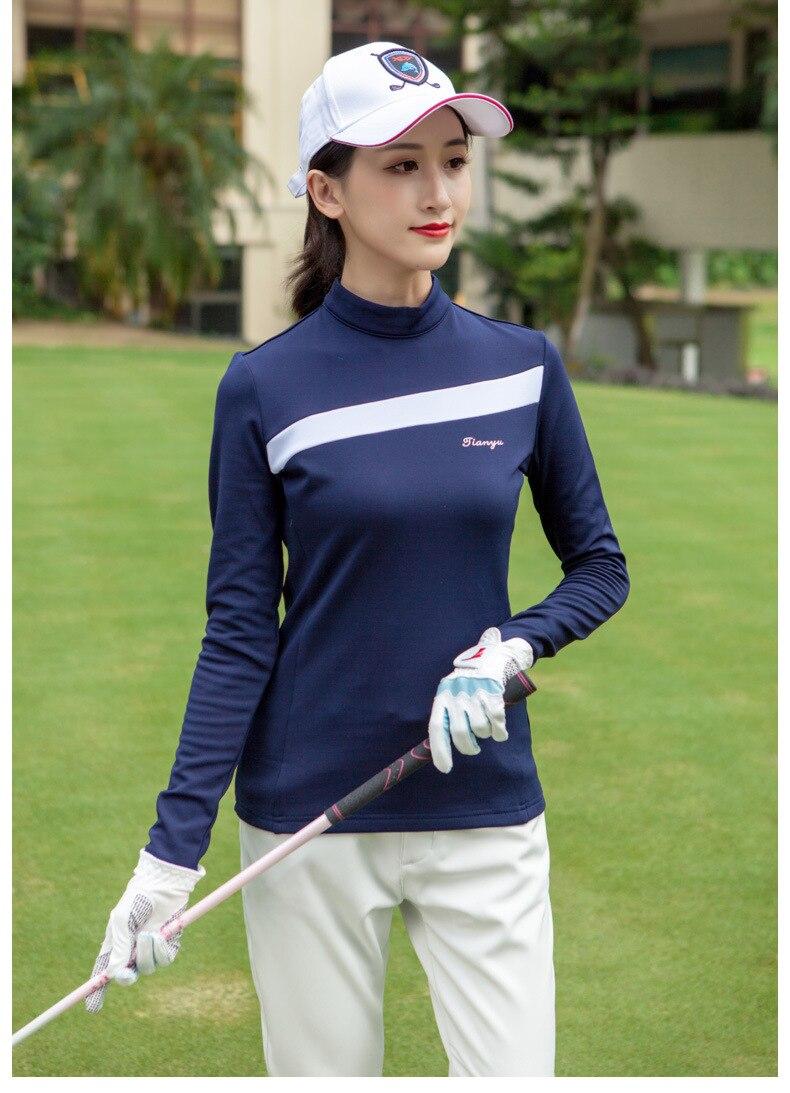lã grossa longo-manga comprida T-shirt feminina outono