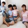 La familia Family Clothing algodón camisetas madre / madre e hija ropa ropa de la camiseta padre hijo familia ropa Set HP20