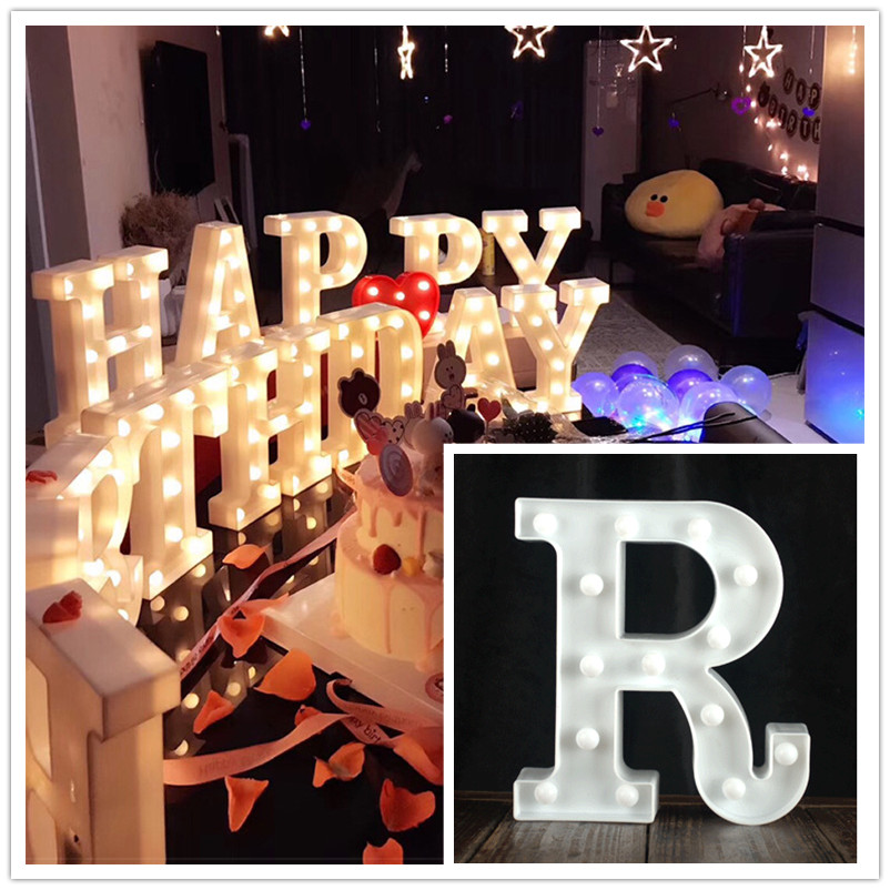 Wedding Letters Large LED Letters Wedding Bright Decorative Letters Glow In The Dark Big Alphabet Letter Decoration
