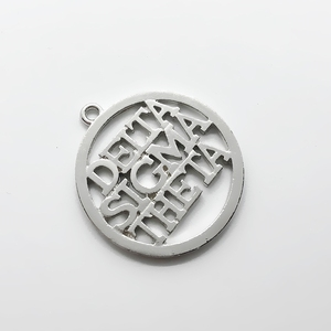 Fashion rhodium-plated English letters DELTA SIGMA THETA metal pendant University society DST sorority label jewelry charm(China)