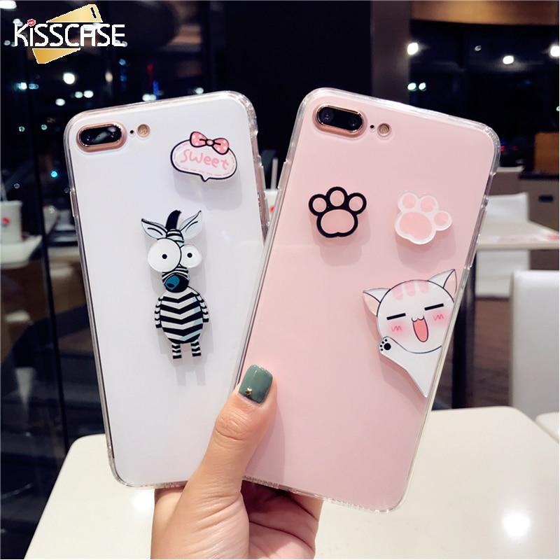 KISSCASE Cartoon Case For iPhone 6 6s 7 8 Plus Cases Cat...