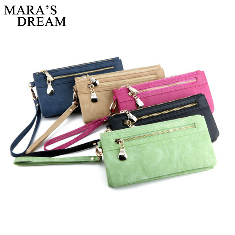 Mara's Dream High Capacity Fashion Women Wallets Long PU Leather Wallet Female Double Zipper Clutch Coin Purse Ladies Wristlet fashion wallets long dull polish pu leather double zipper clutch coin purse wristlet high capacity