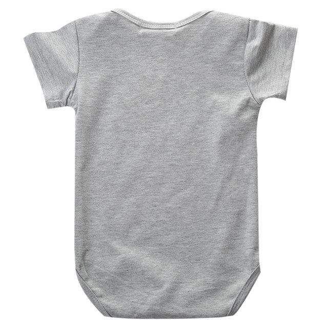 Newborn Baby Gray Fox Print Romper