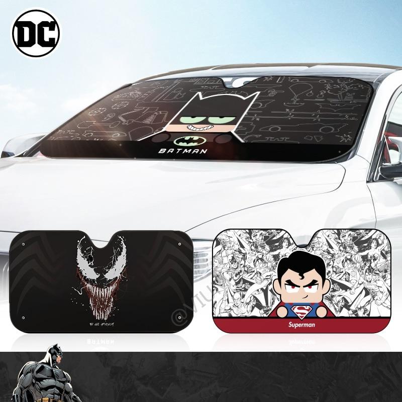 Marvel cartoon auto windschutzscheibe sonnenschirme front fenster deckt baby sonne schatten solar schutz für kinder auto exterior zubehör