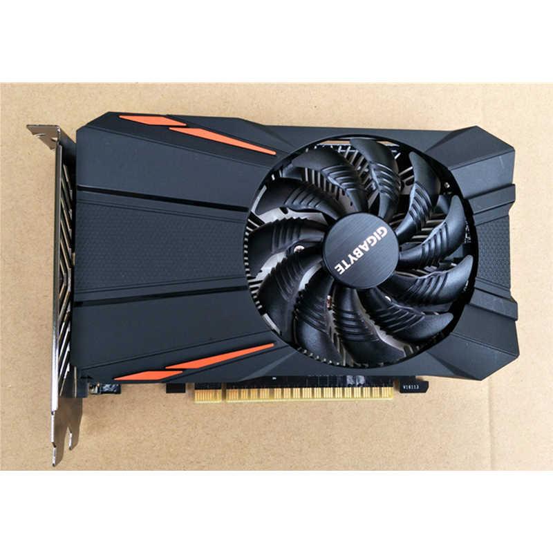 جيجابايت GTX 1050Ti 4 GB GPU الرسومات بطاقات 128Bit ل نفيديا بطاقة فيديو غيفورسي GTX1050 Ti Hdmi VGA VideoCards خريطة GDDR5