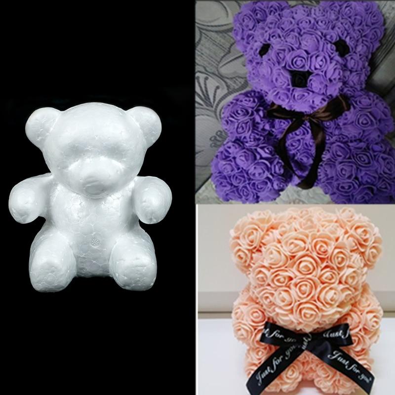 Новогоднее украшение пенополистирол пенопласт белый медведь шарики для творчества для DIY вечерние украшения свадебные и Обручение подарок на Новый год