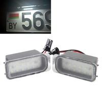 LED 18 3528 SMD Car Led Bulbs License Plate Light Lamps For Ford Fiesta MAX C