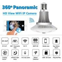 360 Degree 1 3MP Wifi Camera Light Bulb Fisheye Panoramic HD 960P Security Surveillance Dome Lamp