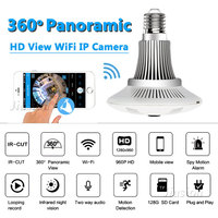 360 Degree 1 3MP Wifi Camera Light Bulb Fisheye Panoramic HD 960P Security Surveillance Dome Lamp