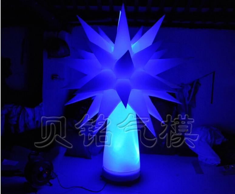 Arbre d'éclairage gonflable de LED personnalisé de 1.5 M, arbre d'étoile de décoration, peut faire sur commande