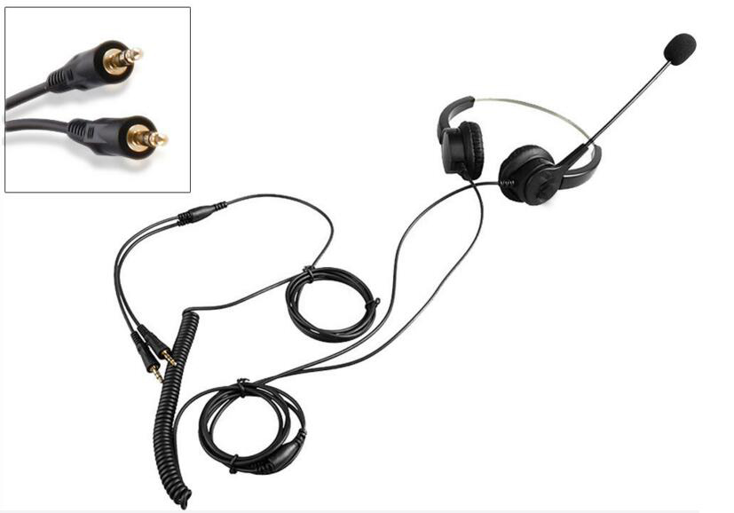 Wired Stereo Surrounded Earphone Headphone With Microphone 3.5mm Plug MIC Headset for PC Computer Laptop Skype Game rock y10 stereo headphone microphone stereo bass wired earphone headset for computer game with mic