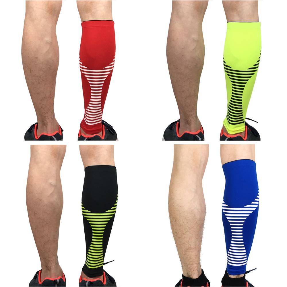 Leg Sleeve Calf Brace Support Outdoor Sports Protective Gear Striped Pattern LFSPR0045