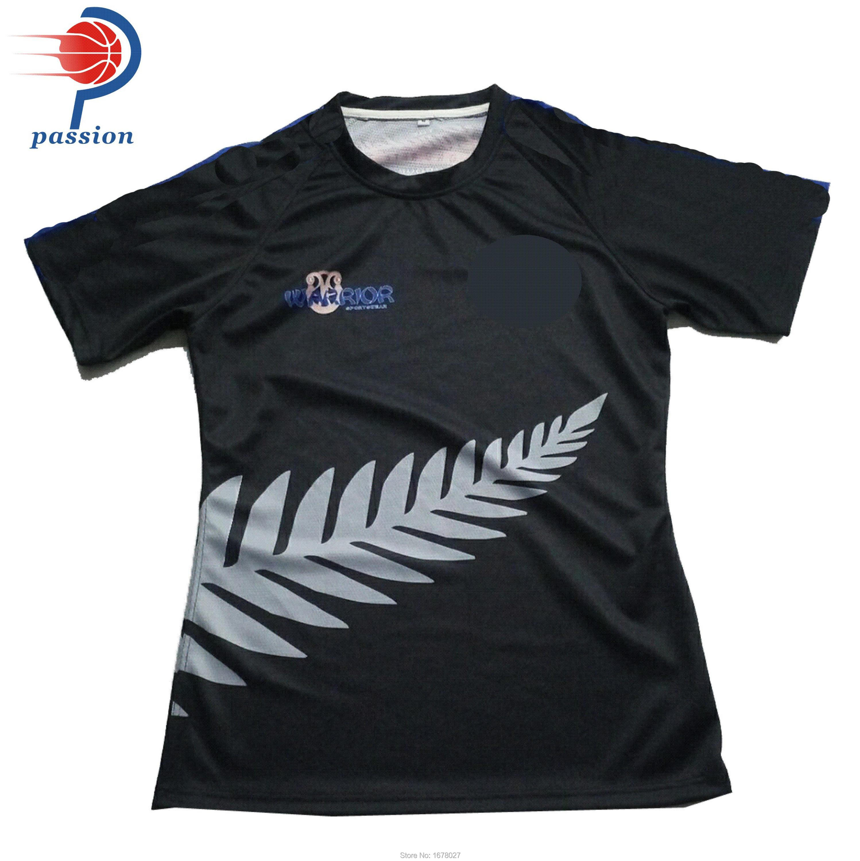 100% Polyester Breathable 2018 Custom Design Rugby Jersey