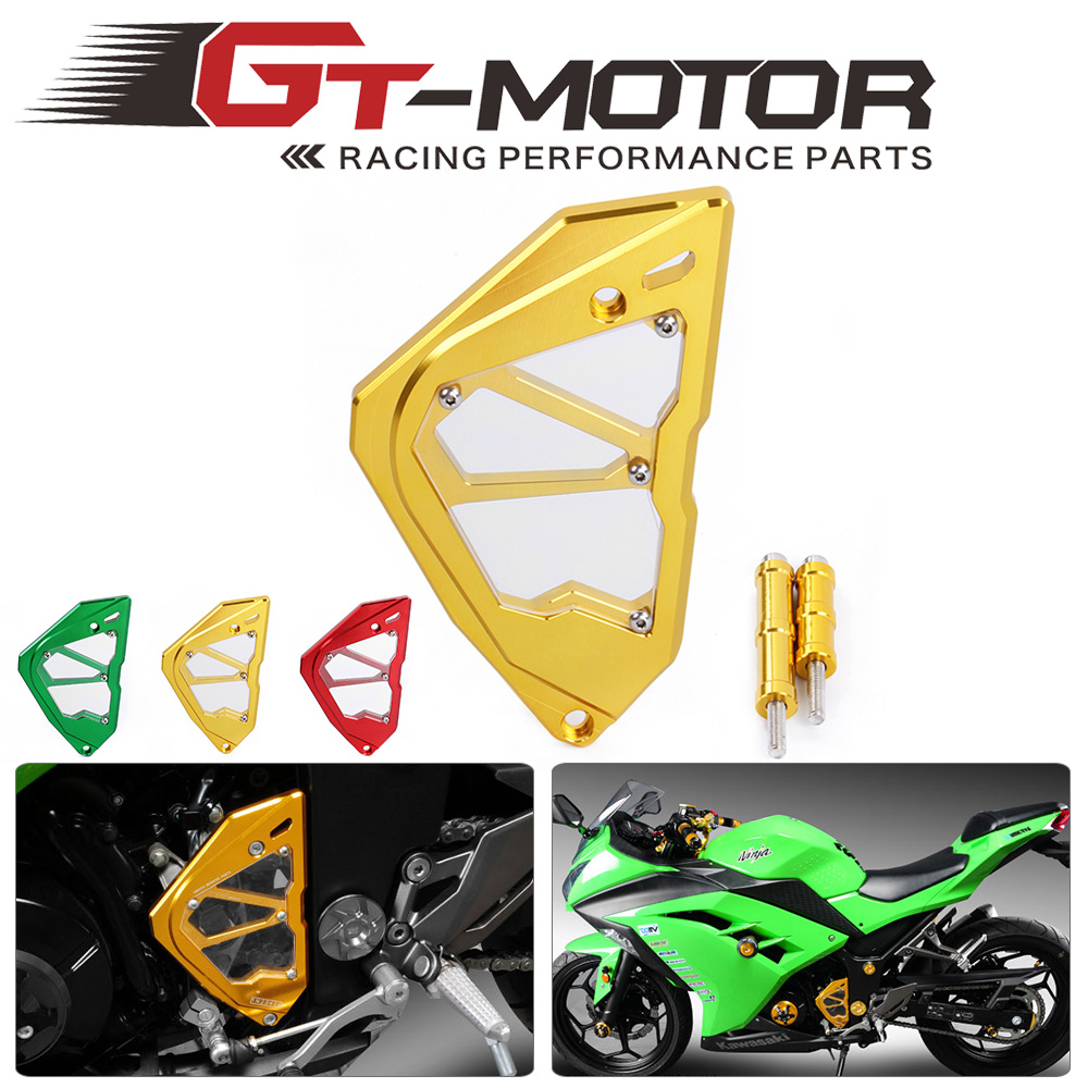 GT Motor - free shipping  Motorcycle Accessories  Guard Protection Gover Left Engine Front Sprocket Chain For Kawasaki Ninja300 pretty love vibrators for women usb vibrator sex toys for woman clitoris stimulator nipple sucker sex products vibromasseur