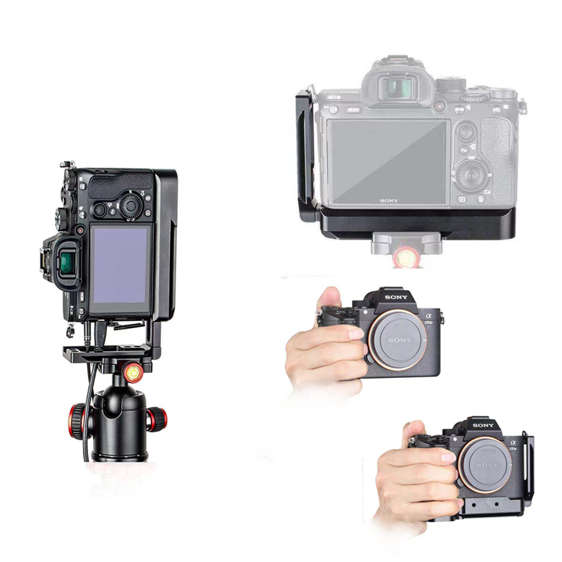 Fixation rapide L support plaque de montage pour Sony A7SIII A7III A7RIII A9 arca-swiss Standard trépied monopodes