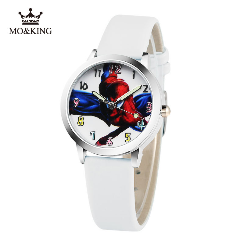 2019 Hot Sale SpiderMan Watch Cute Cartoon Watch Kids Watches Leather Quartz Spider Man Watch Gift Children Hour Reloj Montre