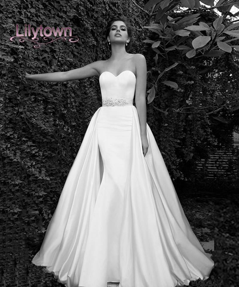 Wedding Gown Cleaning: Wedding Dress 2015 Sweetheart Attached Train At Waist