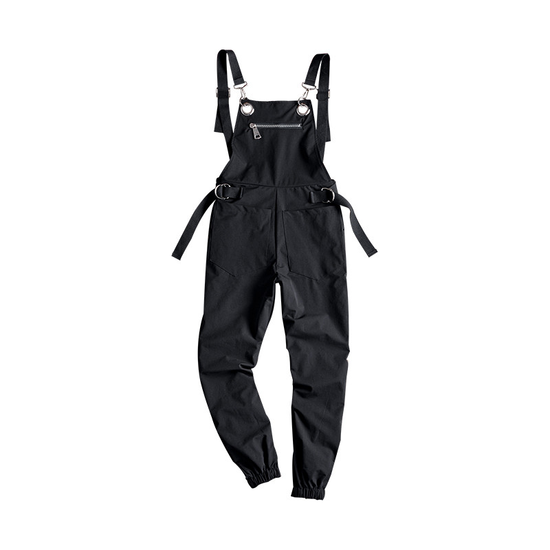 713190d6974 Detail Feedback Questions about MORUANCLE Men s Fashion Hip Hop Bib  Overalls Black Streetwear Jumpsuits For Male Suspender Pants Elastic Cuff  Size M XXL on ...
