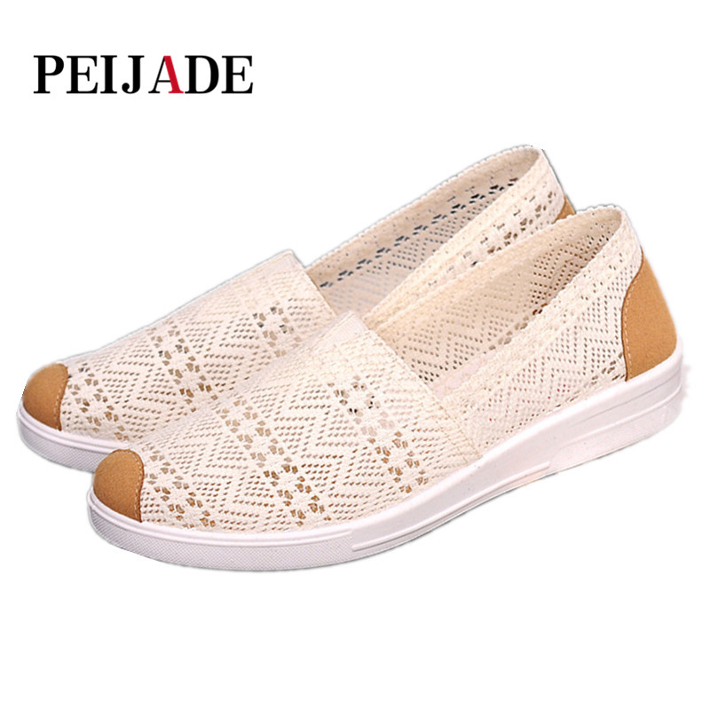 2018 Summer Flat Shoes Woman Comortable Casual Flats Outdoor Women's Shoes Leisure Hollow Breathable Women Shoes Size 35-40 2018 hollow out breathable comfortable fashion head casual flat women shoes tenis feminino spring and summer shoes woman flats