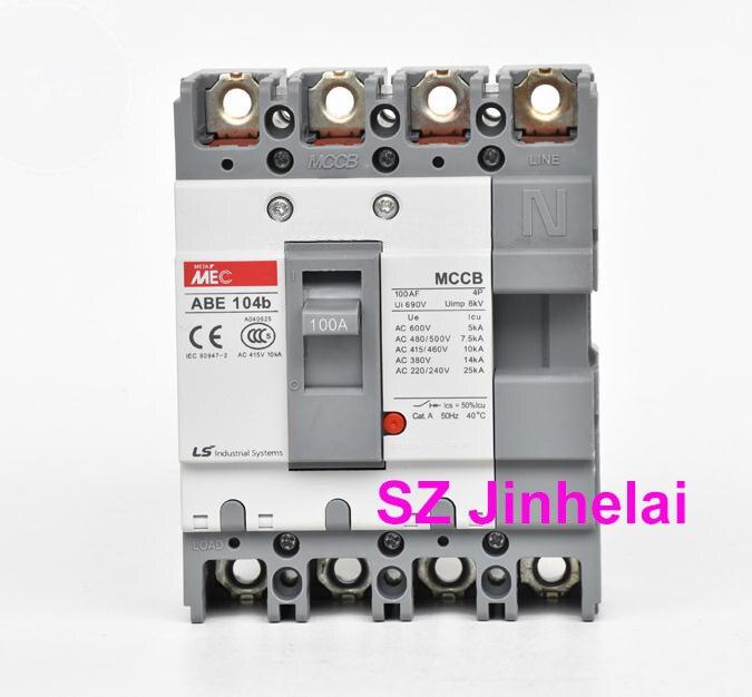 ABE104b Authentic original ABE 104b LS Molded case circuit breaker ABE-104B Air switch 4P  30A/40A/50A/60A/75A/100AABE104b Authentic original ABE 104b LS Molded case circuit breaker ABE-104B Air switch 4P  30A/40A/50A/60A/75A/100A