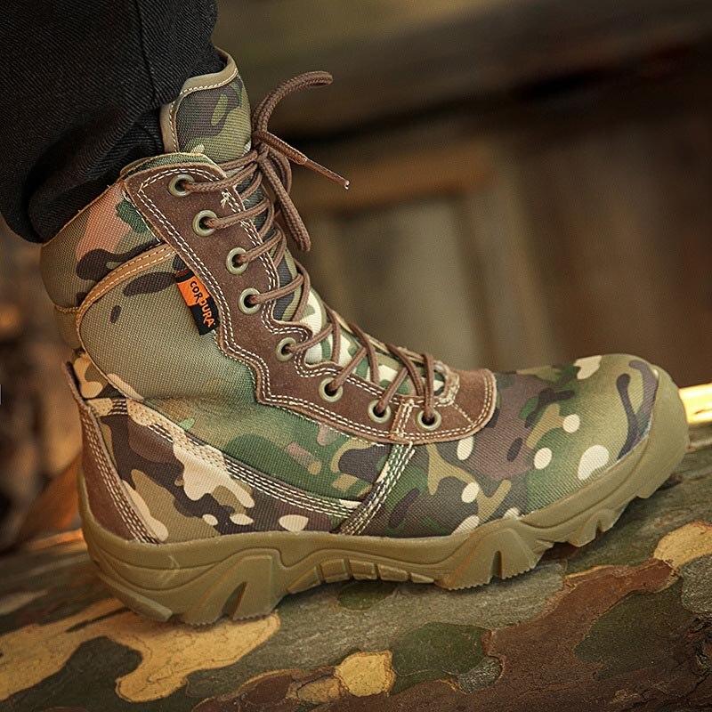 Exército verde Preto Combate Sapatos Militar Camuflagem Homens Botas De Masorini Novos Ww Escalada Tático Kamuflaj Asker Bot 673 qTPFRR