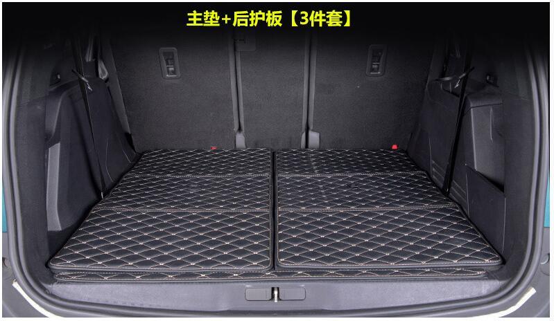 tapis de coffre de voiture compatible avec peugeot 5008 interieur sol accessoire de cuir de style automobile