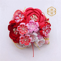 2018 New Chinese style cloth flower Hair Accessories head flower bride Headdress by hand