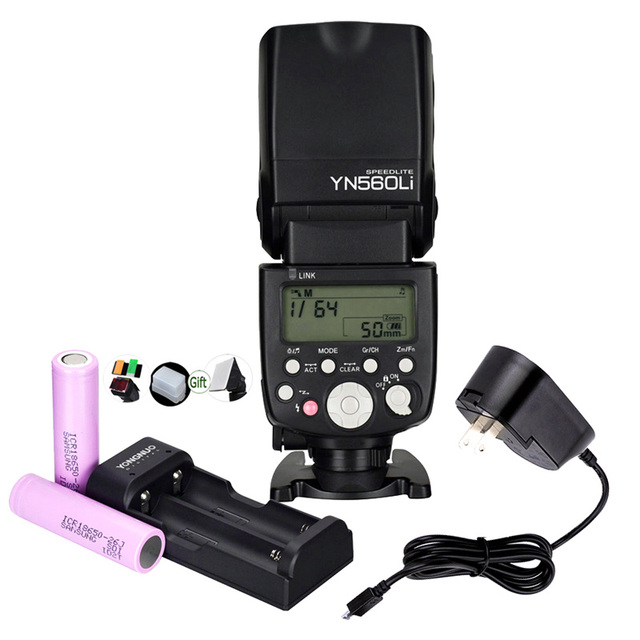 Yongnuo YN560Li ليثيوم بطارية GN58 2.4G اللاسلكية ماستر الرقيق فلاش كاميرا Speedlite العالمي لكانون نيكون بنتاكس أوليمبوس