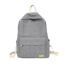 Women Backpack Female School Bag for Teenage Girls Laptop Striped Backpacks Travel Fabric Student Black Notebook Bagpack