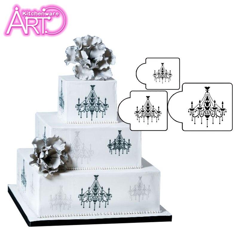 Aliexpress Chandelier Cake Stencil Set Side