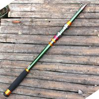 High Quality Fish Tool Carbon Saltwater Rod Superhard Telescopic Fishing Rod Carbon 2.1 3.6M Surf Casting Fishing Pole