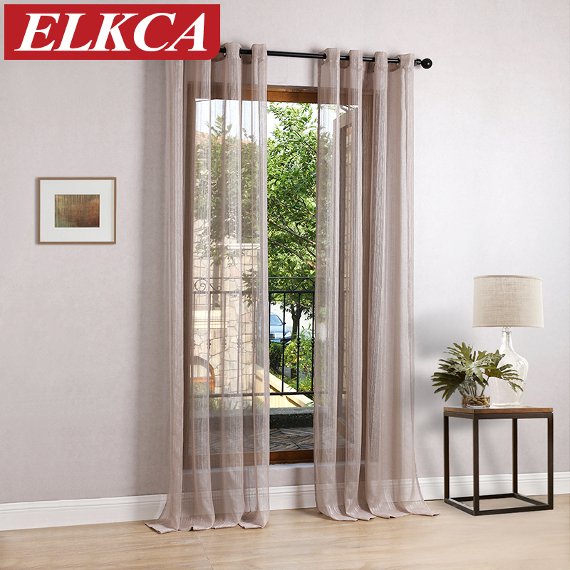 Japan Solid Tulle Curtains For Living Room Modern Curtains For Bedroom Sheer  Voile Drapes Faux Linen Sheer Curtains Kitchen