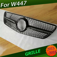 Fit For V Class Vito Grill W447 Diamond Grille For V class Vito Front Bumper Racing Grille V260 V250 AMG Racing Grille