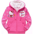Winter Girls Coats Cartoon Children Coats Outerwear Thick Cashmere Girls Hooded Jacket Kids Coats 2-9 Years