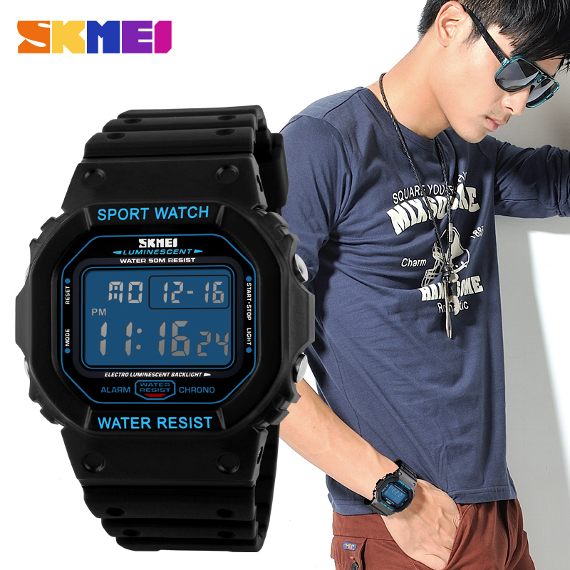 50M Waterproof Wristwatches Clock Outdoor Men Casual Fashion Relogio New Masculino LED
