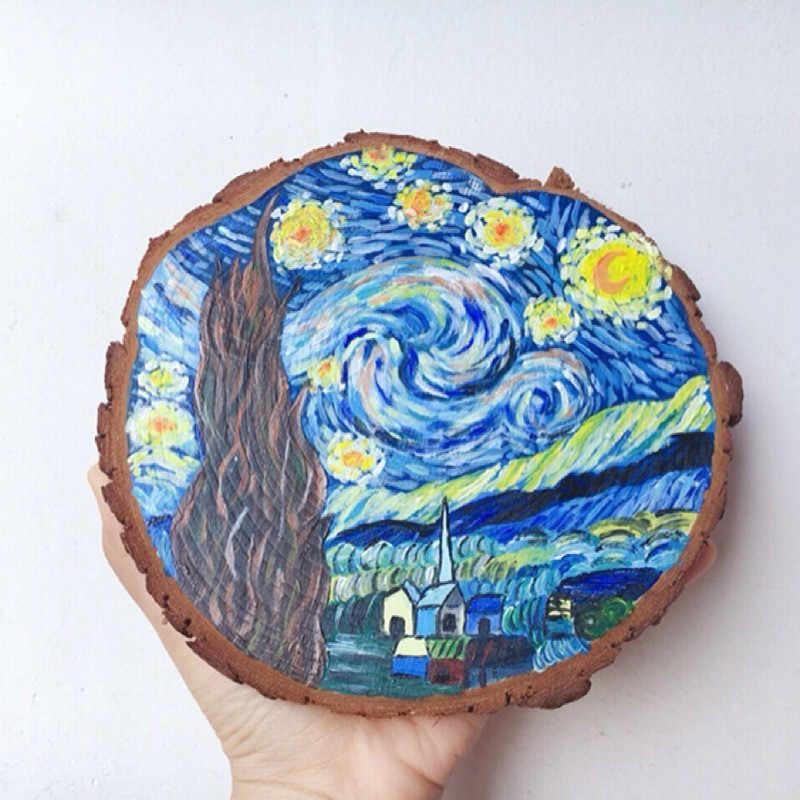 """Кусочки натурального дерева 4,7 """"-9,8"""" Ремесло деревянный комплект Незаконченные деревянные круги отлично подходит для искусств и ремесел Свадебные украшения DIY ремесла"""
