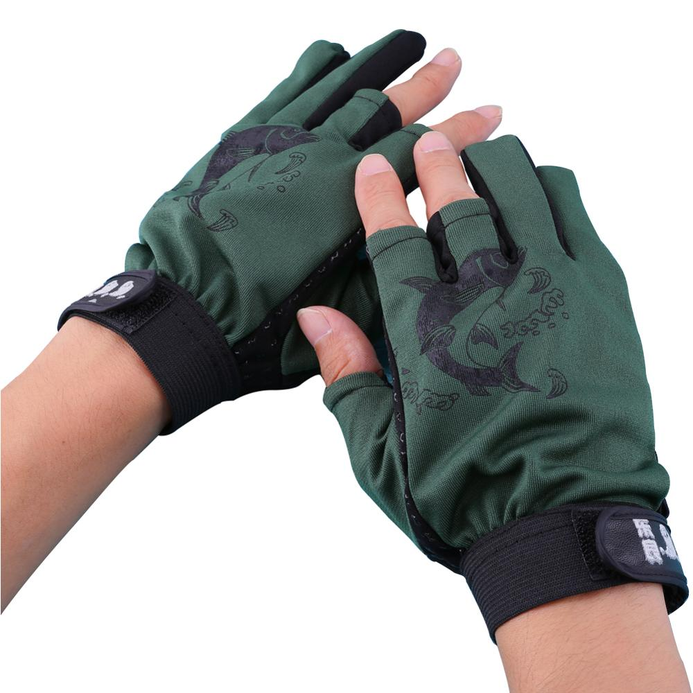 1Pair Outdoor Waterproof Breathable Motorcycle MTB Mountain Road Bike Gloves 3 Cut Finger Anti-slip Non-Slip Fishing Glove Pesca