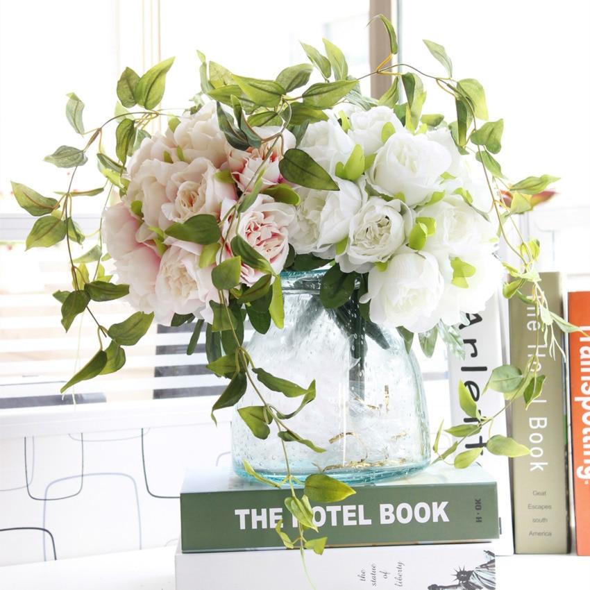 1 Bouquet DIY Жасанды гүлдер Роза Жібек - Мерекелік және кешкі заттар - фото 2