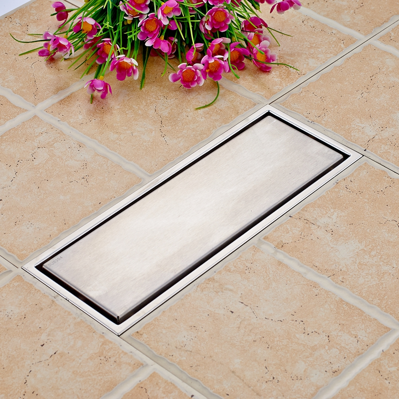 Square Stainess Steel Bathroom Shower Floor Drain Grate Waste Drain Floor Filler brass square antique bronze bathroom floor drain waste grate shower drainer 100 100mm