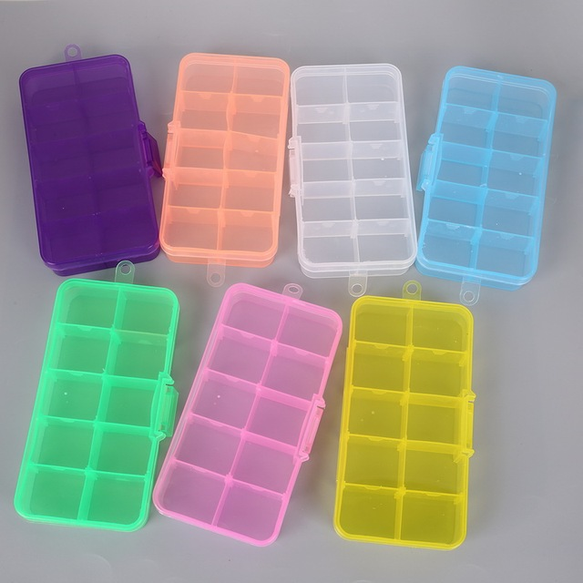 Cheap DIY Wholesale 10 cells Plastic lots Adjustable Jewelry Storage